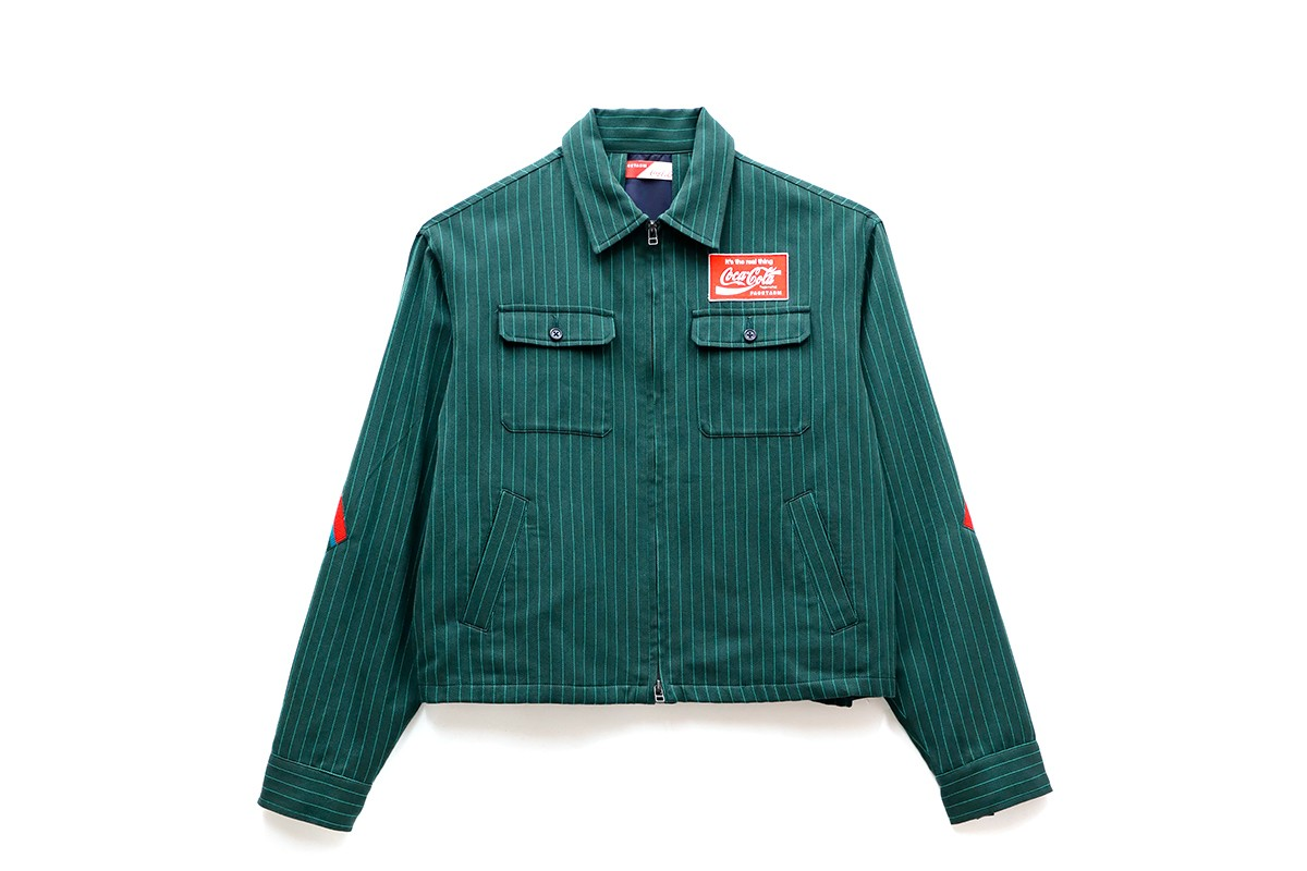 FACETASM Coca-Cola 2019 Capsule Collection Vintage Workwear Vendor pinstripe 1969 campaign its the real thing Hiromichi Ochiai designer isetan selfridges IT