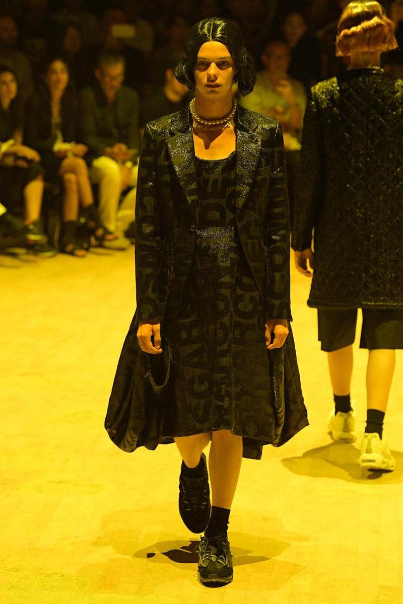 COMME des GARÇONS HOMME PLUS SS20 Runway Show collection spring summer 2020 paris fashion week pfw look air max 95 nike collaboration menswear