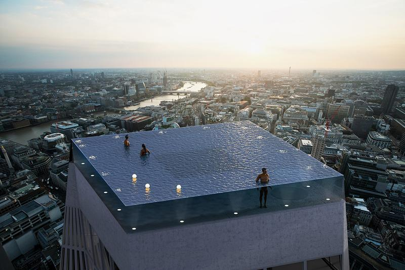 compas pools 360 degree infinity pool london views across skyline best place hotel worlds first 55 story floors 2020 details how to enter exit