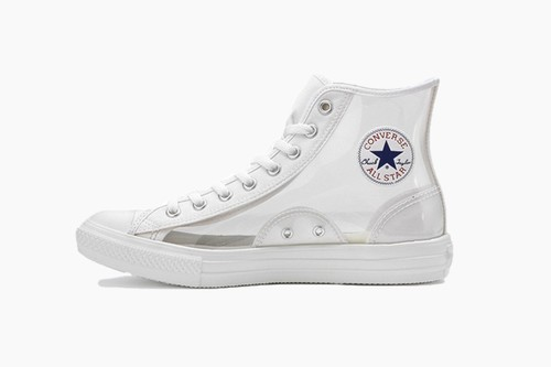 Converse Japan All-Star Light Clear Material Hi in Pink and Clear