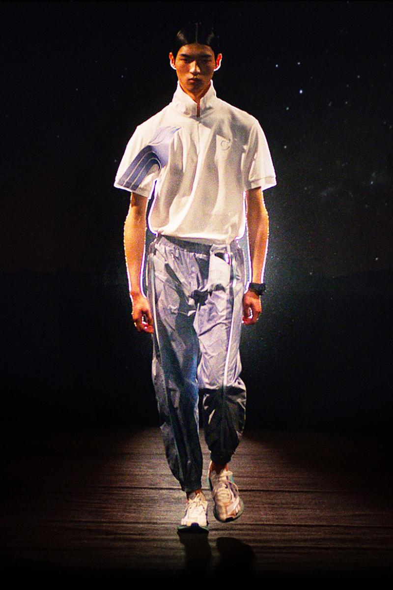 COTTWEILER Spring Summer 2020 Collection Paris Fashion Week Saville Row Tailoring Technical Futuristic Egypt Research Athletic Track pants shirt shoes Backpack projection digital