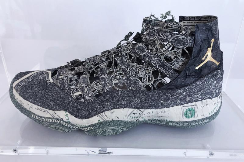 Dai Dai Tran Recreates Nike Items With Banknotes french artist products sneakers chanel hermes basketball kits jerseys air jordan michael jordan 23