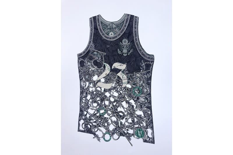 Dai Dai Tran Recreates Nike Items With Banknotes french artist products sneakers chanel hermes basketball kits jerseys air jordan michael jordan 23