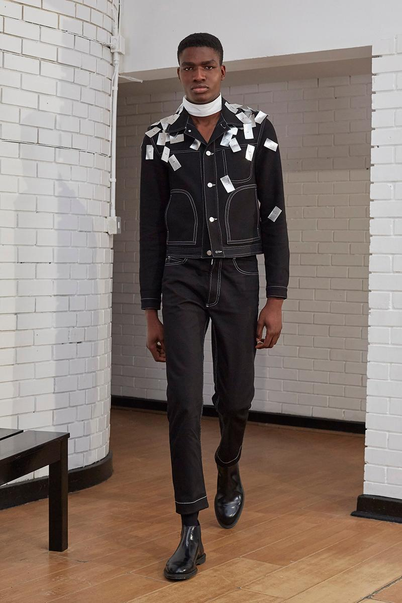 "Daniel W. Fletcher Paris Fashion Week Men's SS20 Spring/Summer 2020 Collection Runway Looks ""HOPELESSLY DEVOTED"" Central Saint Martins Graduate"