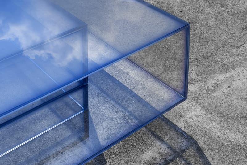 Design Miami 2019 studio BUZAO NULL Series designer Zeng Peng gradient furniture glass blue sea sky