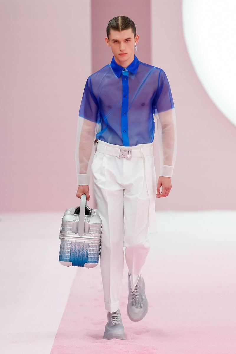 Dior Spring/Summer 2020 Runway Collection at PFW paris fashion week mens ss20 kim jones daniel arsham artist collaboration alyx studio matthew m william yoon jewelry backstage closer look menswear