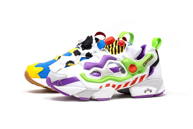 BAIT Disney Pixar Reebok Instapump Fury Toy Story 4 movies buzz lightyear sheriff woody alien mr. potato head animation pumps sneakers you've got a friend in me to infinity and beyond