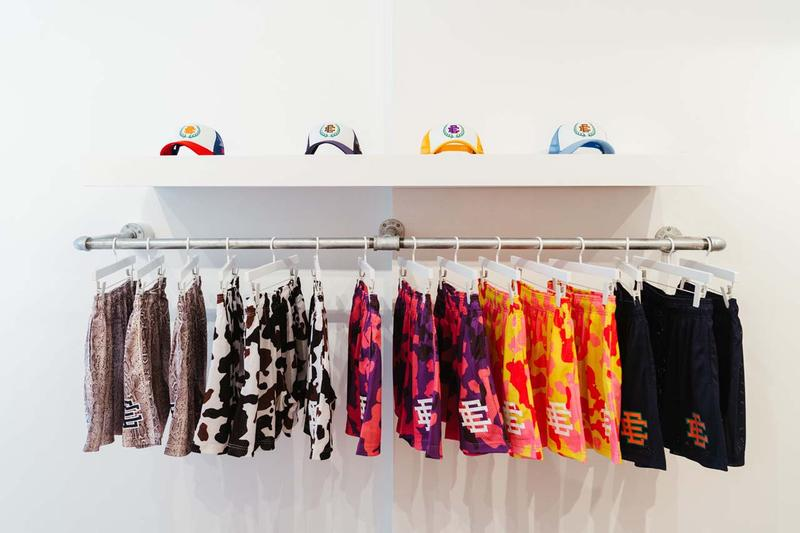 Eric Emanuel New York Pop-Up Shop Inside Look shorts adidas iverson collaboration sneaker