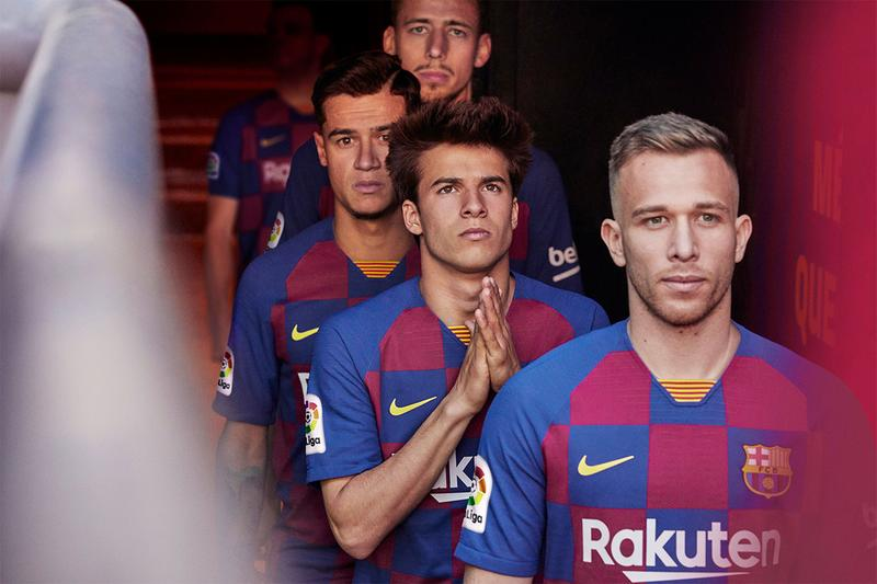FC Barcelona Nike Home Kit Checkerboard Revamp beaverton football soccer pique messi suarez sports jersey eixample district grid catalan catalonia