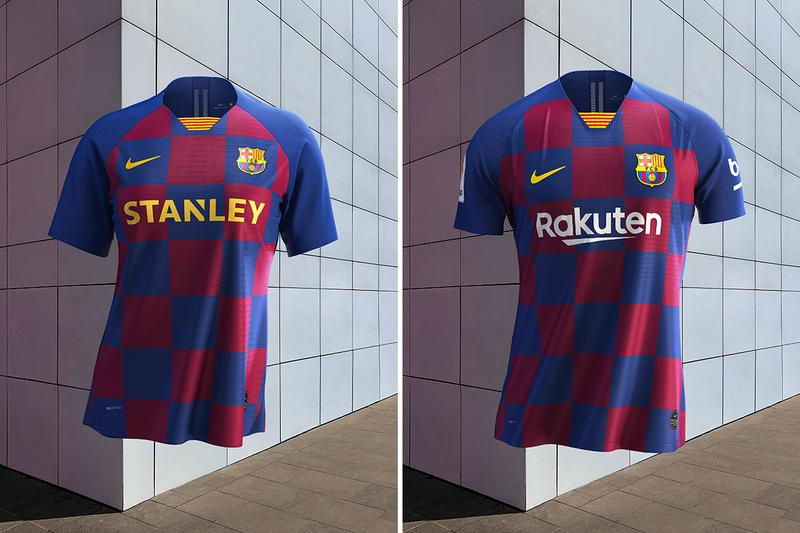 new concept 83b2f 9c9c4 FC Barcelona Nike Home Kit Checkerboard Revamp | HYPEBEAST