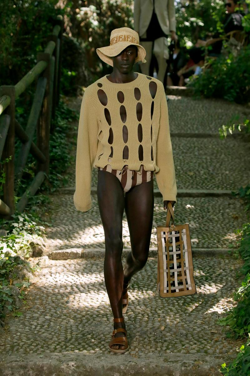 Fendi Spring Summer 2020 Collection gardening bucolic outdoors Silvia Venturini Fendi Italy Italian Head Quarters
