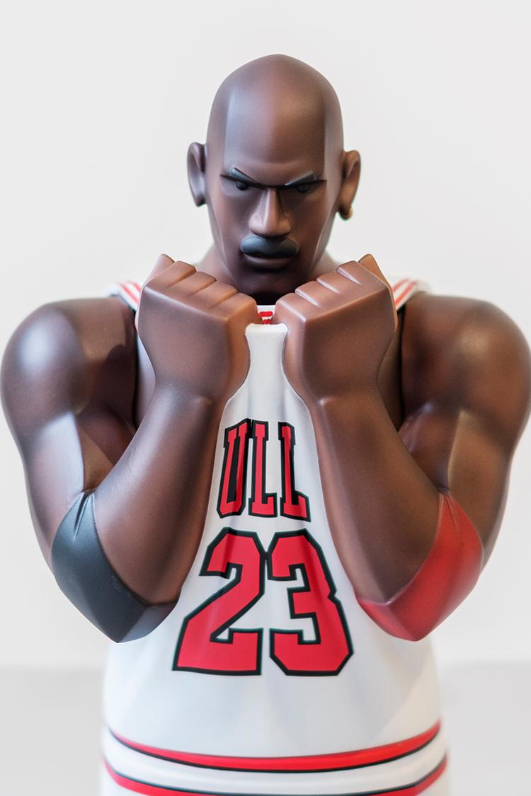 "Fool's Paradise ""XL THREE KING: TWO THREE"" collectible figurine virgil abloh the ten sneaker 1997 98 home jersey 23 michael jordan"