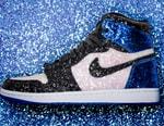 "The Shoe Surgeon Crafts fragment design x Air Jordan 1 ""Glitter"" Customs"