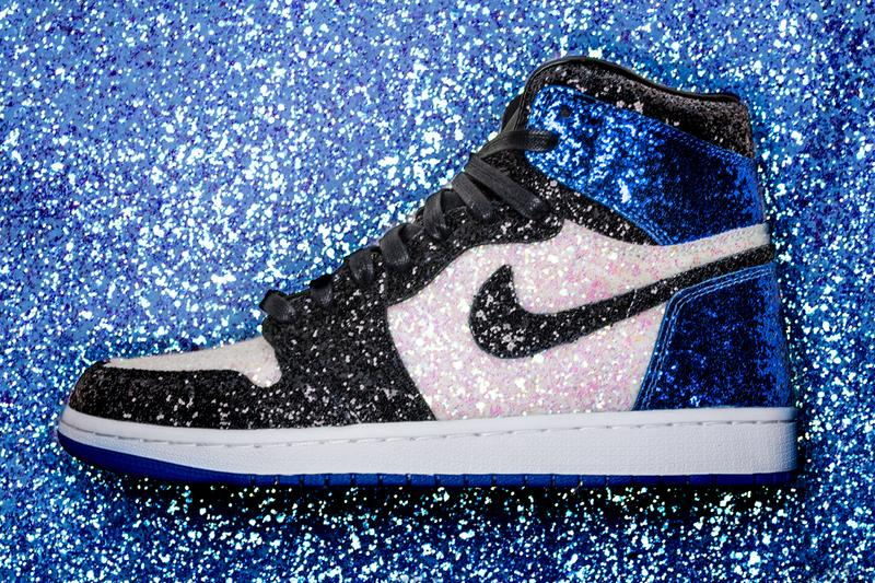 "Shoe Surgeon's fragment x Air Jordan 1 ""Glitter"" custom colorway nous paris june 22 2019 limited 25 pairs exclusive j balvin dj snakedani alvez kylian mbappe sneaker release date info exclusive paris fashion week"