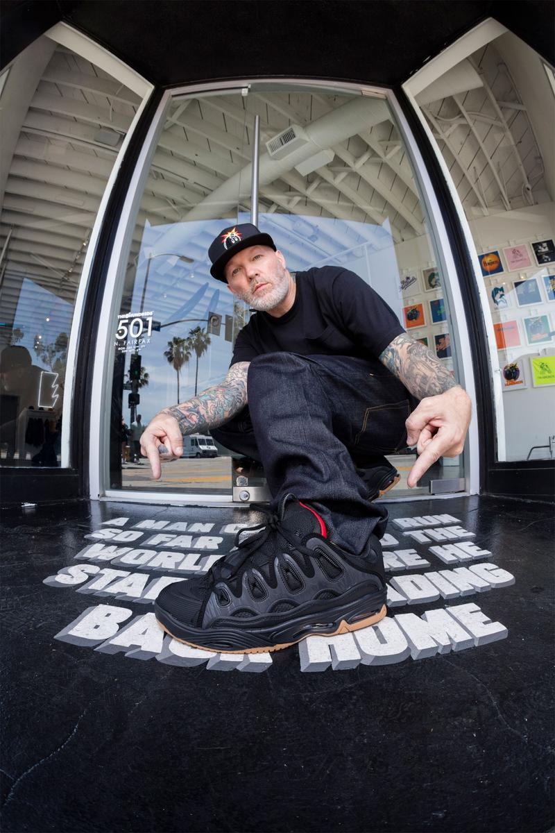 Fred Durst The Hundreds x Osiris D3 Lookbook limp bizkit  rap rock band skate shoes sports California looksbooks footwear sneakers