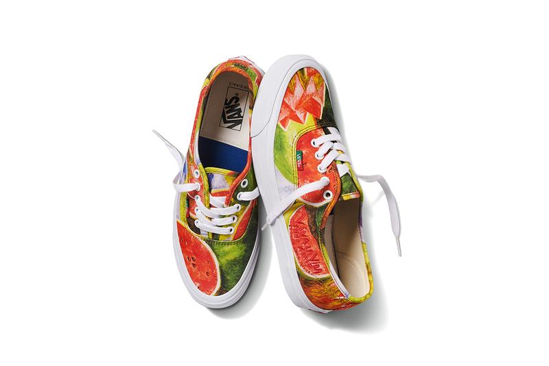 Frida Kahlo Vans Vault UA OG Sk8-Hi LX Authentic Slip On Collaboration Footwear Release Limited Edition Art Sneakers Mexican Artist Floral Self Portrait Leather Canvas