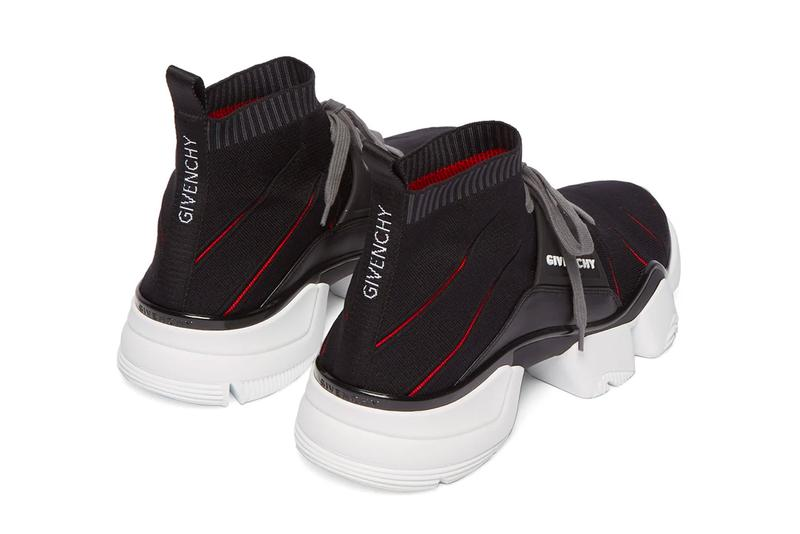 Givenchy Jaw Raised Sock Sneaker Release Black Red White Info Buy Purchase New Cut
