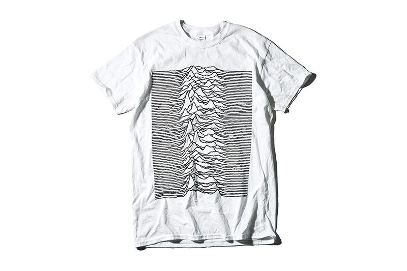 Goodhood x Joy Division 40th Anniversary 1979 Album 'Unknown Pleasures' Collection Peter Saville YMC Stepney Workers Club Tom Wood Big Love Records Universal Works Sneakers T-Shirts Homewear Cushions Lighter Mug Tote Bags Plate Work Jacket