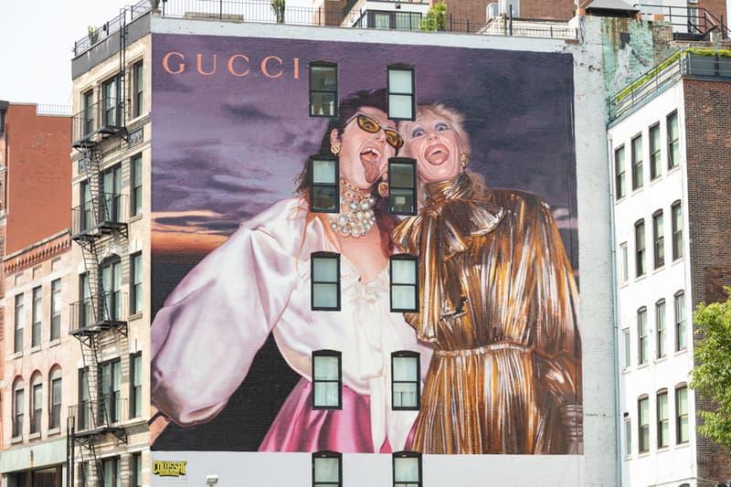 gucci artwalls pre fall 2019 campaign collection lookbook new york shanghai china hong kong