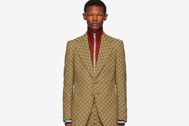 Gucci Drops GG Pattern-Emblazoned Suit & Patch Cap Set