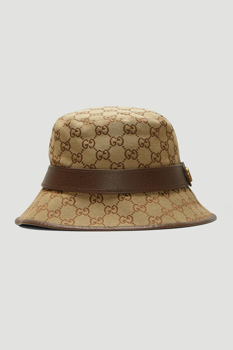 Gucci GG Logo Bucket Hat Release Brown Monogram