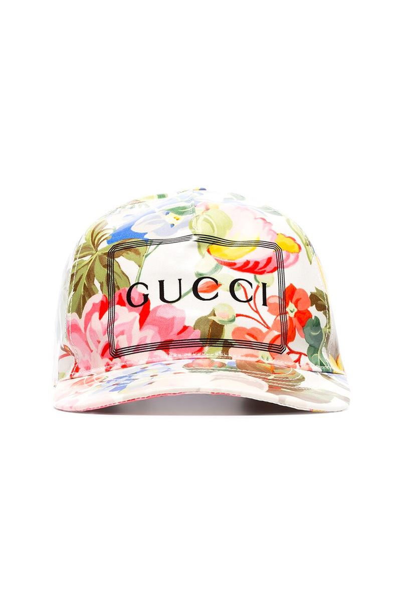 gucci floral print baseball cap brown gg canvas hat spring summer 2019 release