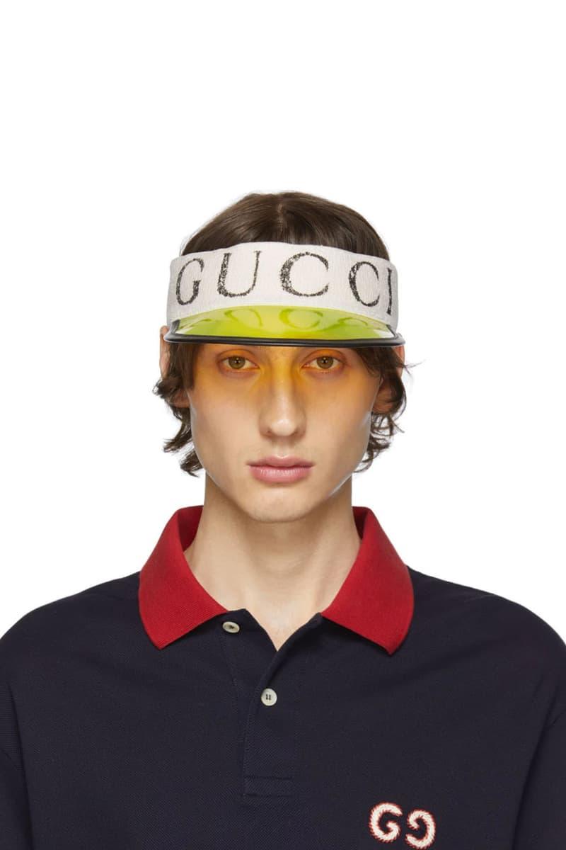 Gucci Off White Vinyl Sun Visor