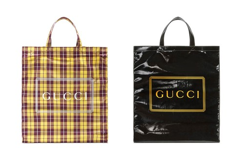 Gucci Drops Logo-Printed Coated Tote Bag Collection