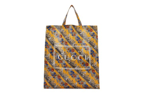 Gucci's Yellow Logo Tote Is an Ideal Option for Floral Enthusiasts