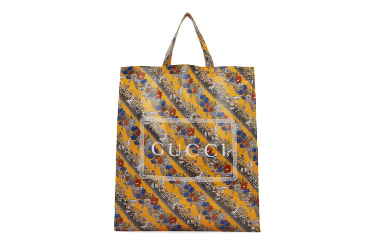 6fa02e5ba Gucci's Yellow Logo Tote Is an Ideal Option for Floral Enthusiasts