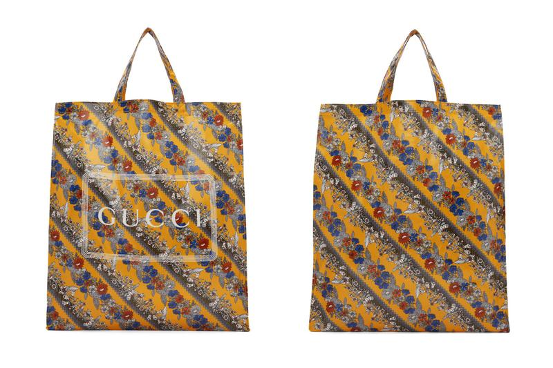 Gucci Yellow Floral Logo Tote
