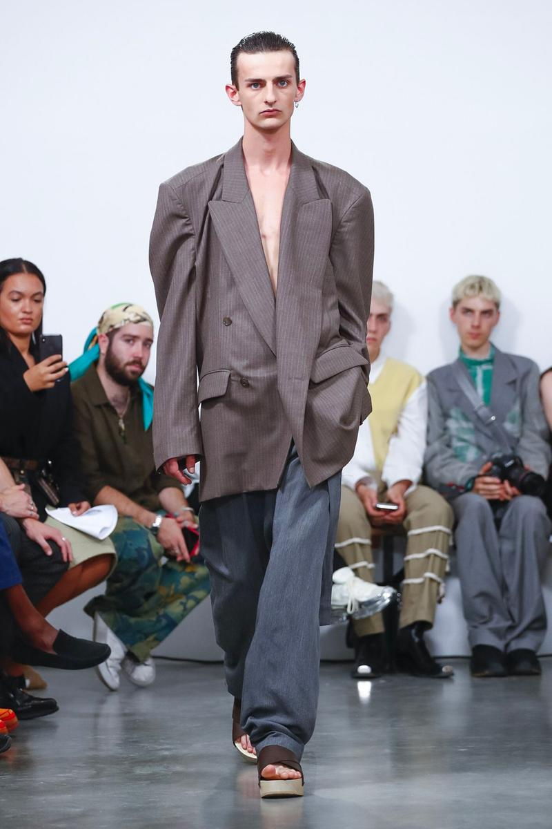 Hed Mayner Spring/Summer 2020 Collection Runway PFW men's menswear womenswear gowns safari fashion tailor