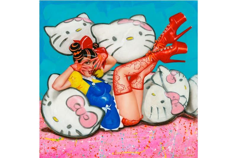 hello kitty anniversary group show corey helford gallery exhibition artworks sanrio