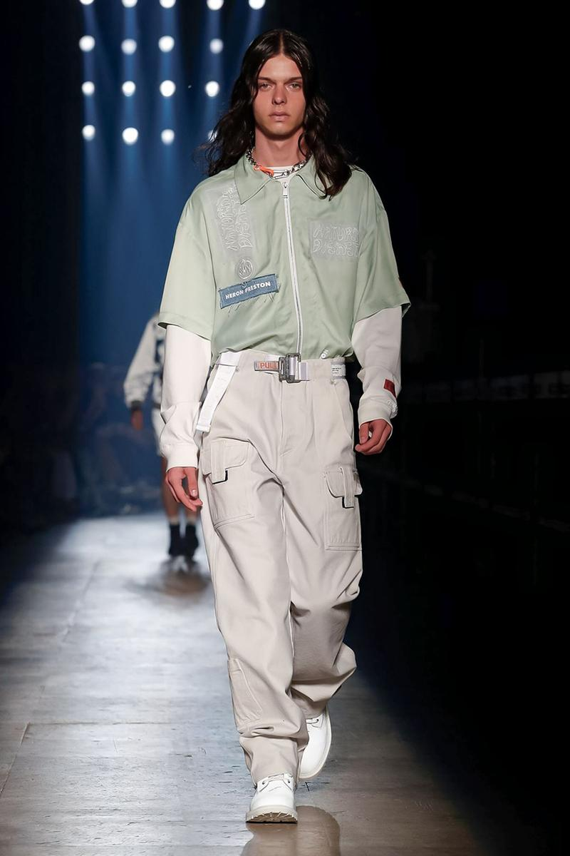 Heron Preston Paris Fashion Week Men's SS20 Spring Summer 2020 Looks Runway Pieces Levi's Collaboration Pieces First Look GORE-TEX