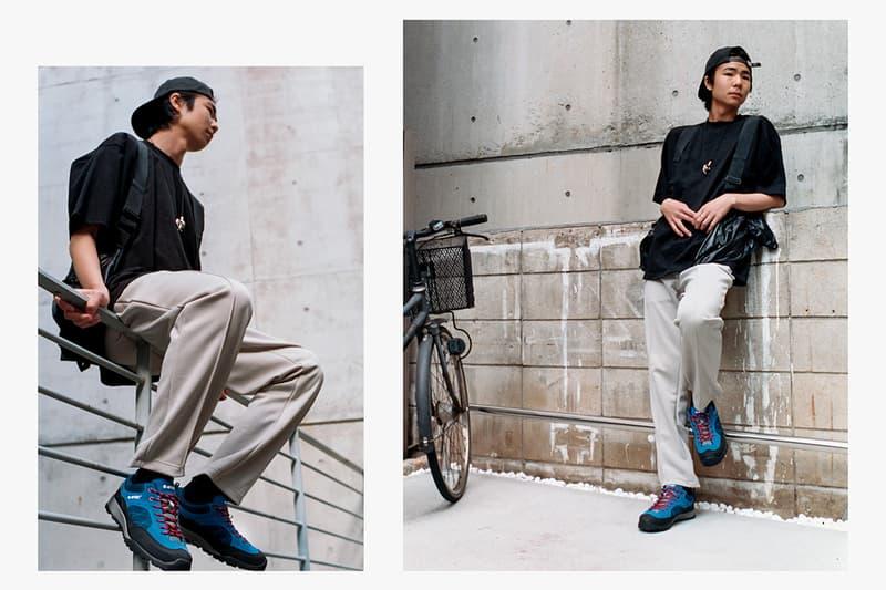 "Hi-Tec Japan Footwear Drop Editorial Campaign Lookbook ""Shibuya Crossover"" Images Kawaz Flex Elasticated Sandal Aoraki WP Outdoor Sneaker SS19"