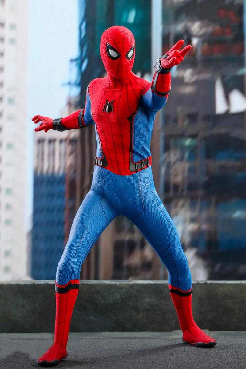 Hot Toys Spider Man Movie Promo Edition Info marvel toys cinematic universe studios tom holland tony stark scale figure collectible far from home