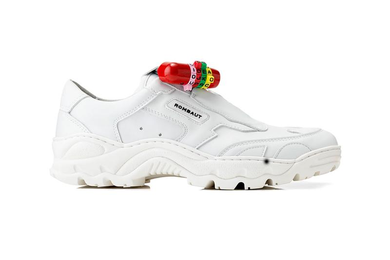 IDEA Books x Rombaut Padlock Sneaker Collab dover street market london release date info buy june 13 2019 20 white pop up Classic Vegan Leather Boccaccio