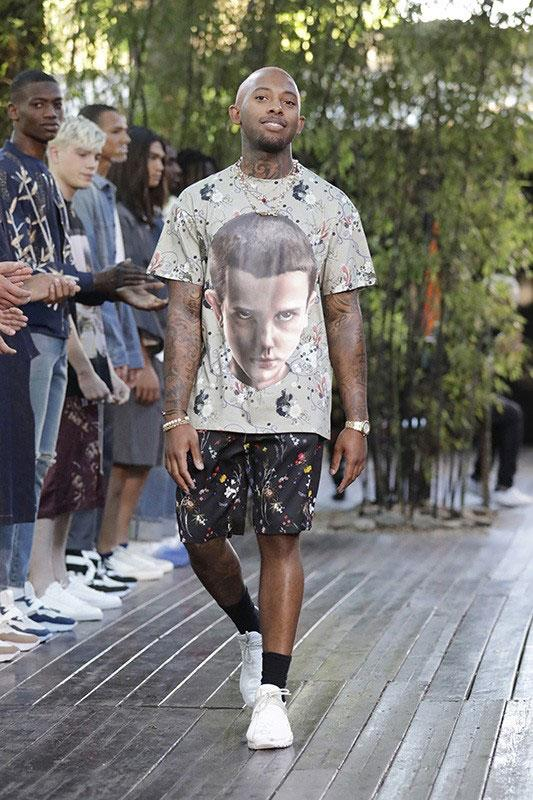 ih nom uh nit Debuts 'Stranger Things' Tees During SS20 Runway Show eleven netflix spring summer 2020 milan fashion week