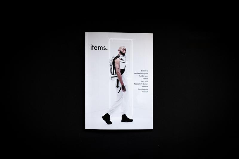 'items.' Techwear Magazine Third Issue Inside release global drop date info editorial riot division enfin leve article feature