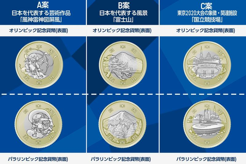 Tokyo Olympics Yen Coin Design Twitter Vote Japan japanese 2020 sports ministry of finance money