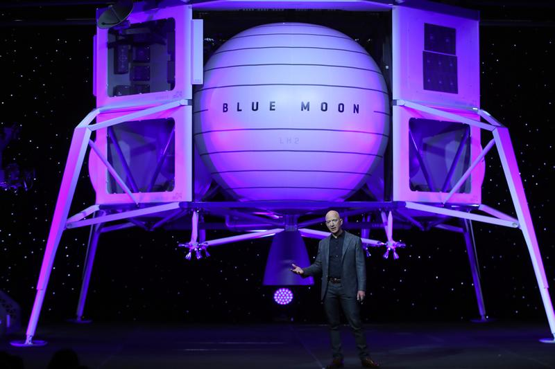 Jeff Bezos Amazon Colonize Space re:Mars Save the World Blue Moon Blue Origin