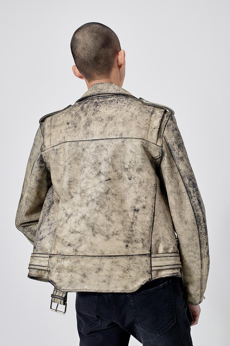john elliott blackmeans leather distressed riders jacket indigo grey colorways pre fall 2019 june 6 release date info melrose