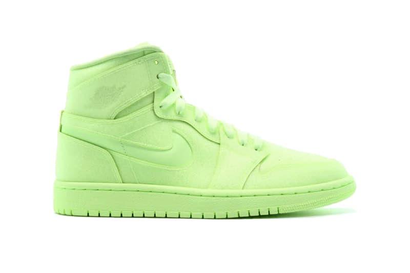 Jordan AJ1 Barely Volt Colorway Release AFEW Michael Jordan Sneakers kicks neon yellow bright colors shoes footwear Nike  AH7389-700