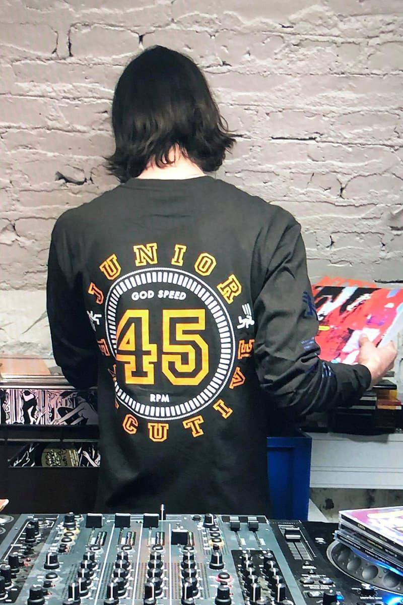 Junior Executive Fall/Winter 2019 FW19 Collection Lookbook Shirts T-Shirts Sweaters Graphic Print Gothenburg Atelje San Francisco record label Public Release Pleasure Studio Barnhus Stockholm