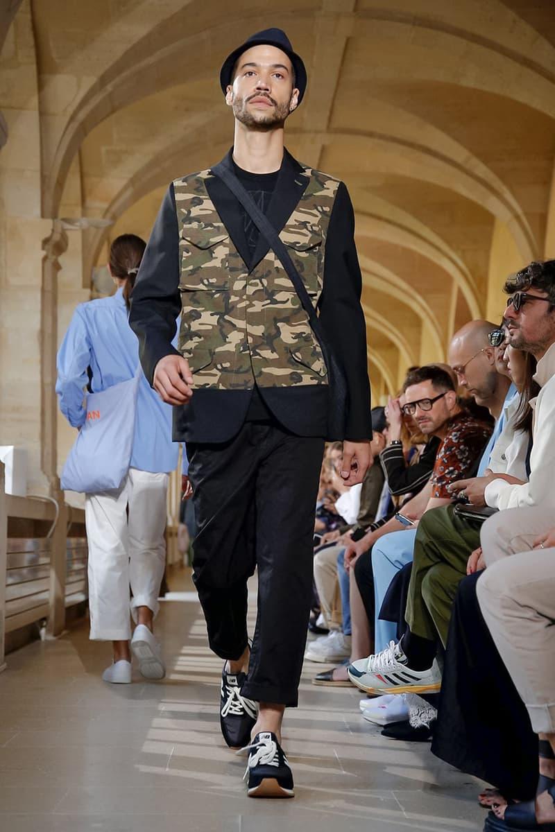 Junya Watanabe Spring Summer 2020 Paris Fashion Week Men's SS20 Runway Presentation Menswear Looks New Balance Sneaker Collaboration Levi's Jacket Denim Carhartt Amsterdam Tulip Museum St. John Real Review Civilisation