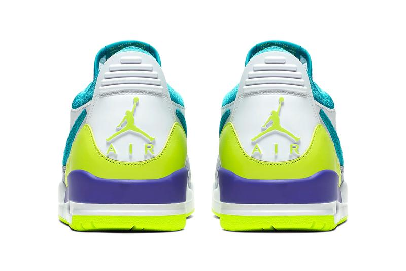 Just Don x Jordan Legacy 312 Low Release Info don c streetwear designer indian brand basketball shoes sneakers silhouette volt teal jumpman