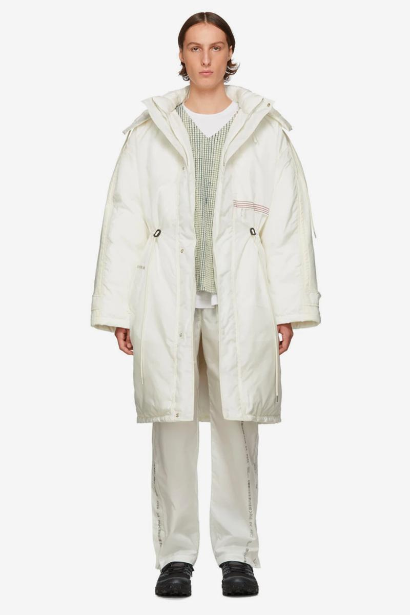 KANGHYUK Fall Winter 2019 Delivery White Down Front Jacket Grey Readymade Airbag Oil Washed Trousers front vest cap shrink shirt south korea seoul