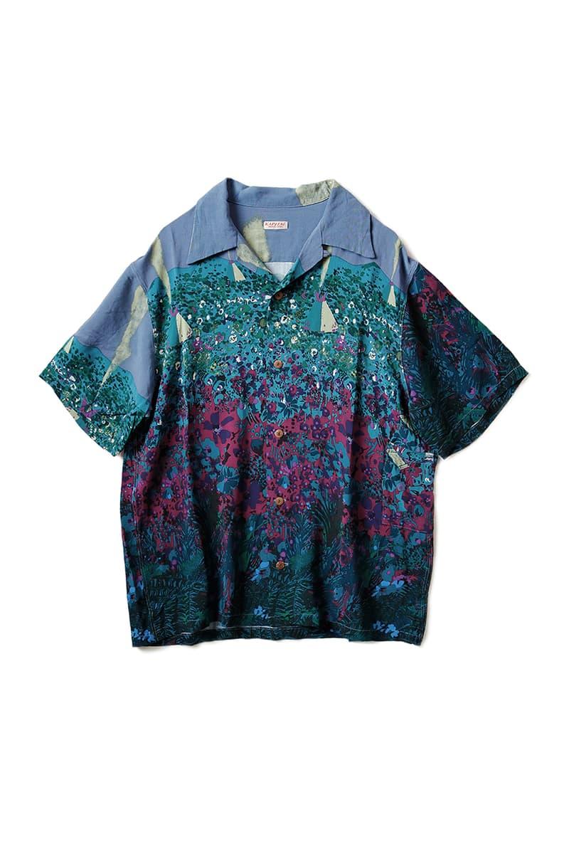 "Kapital ""Navajoland"" Rayon Hawaiian Shirt short sleeve aloha print pattern navajo"