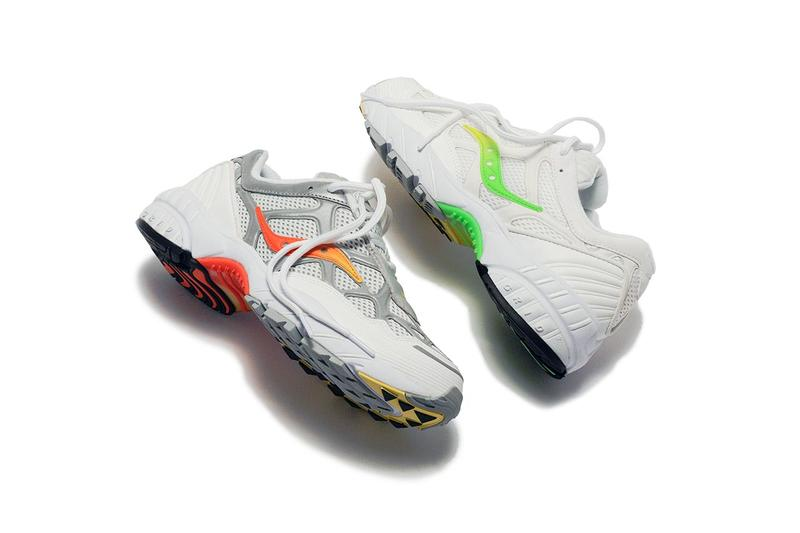 KITH x Saucony Grid Web Sneaker Collaboration Release colorways drop info june 28 2019 white silver orange green neon 3m ronnie fieg spring summer 2019 ss19