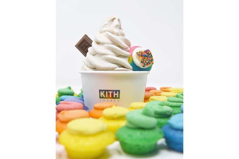 KITH Treats x Baked by Melissa Pride Month Special Release LGBTQ + Plus Stonewall Uprising 50th Anniversary Cupcakes Rainbow ce Cream Swirl milkshake